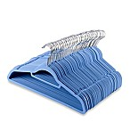 Real Simple® Slimline 50-Count Flocked Suit Hangers in Regatta Blue