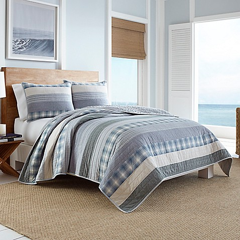 Nautica Durham Quilt In Blue Bed Bath Beyond