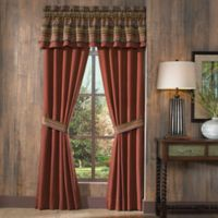 Croscill® Horizons Pole Top 84-Inch Window Curtain Panel Pair in Red/Brown