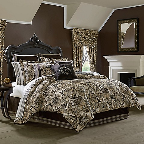 J Queen New York Paloma Comforter Set In Gold Bed Bath