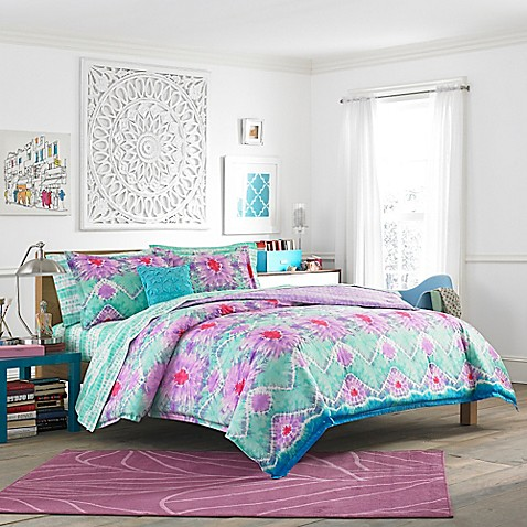 teen vogue to dye for comforter set in light purple