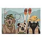 Trans-Ocean Front Porch Fishing Patrol 1-Foot 7-Inch x 2-Foot 5-Inch Indoor/Outdoor Accent Rug