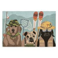 Trans-Ocean Front Porch Fishing Patrol 2-Foot x 3-Foot Indoor/Outdoor Door Mat