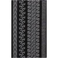 Surya Lenzspitze Indoor/Outdoor 9-Foot x 12-Foot Area Rug in Charcoal Grey
