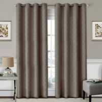 SolarShield® Coleman 95-Inch Grommet Top Room-Darkening Window Curtain Panel in Mushroom
