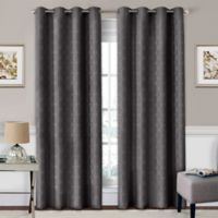 SolarShield® Coleman 63-Inch Grommet Top Room-Darkening Window Curtain Panel in Smoke