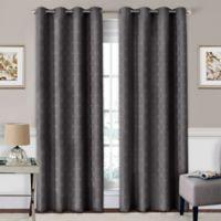 SolarShield® Coleman 84-Inch Grommet Top Room-Darkening Window Curtain Panel in Smoke