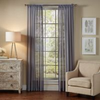 SolarShield® Borinda 108-Inch Rod Pocket UV Filtering Sheer Window Curtain Panel in Ash Blue