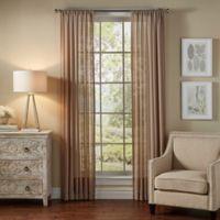 SolarShield® Borinda 84-Inch Rod Pocket UV Filtering Sheer Window Curtain Panel in Latte