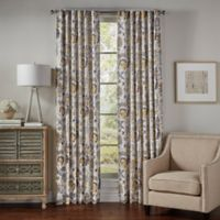 SolarShield® Lowell 84-Inch Rod Pocket/Back Tab Room-Darkening Window Curtain Panel in Yellow
