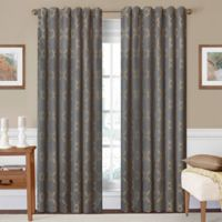 SolarShield® Oasis 84-Inch Rod Pocket/Back Tab Room-Darkening Window Curtain Panel in Smoke