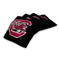 University of South Carolina Duck Cloth Cornhole Bean Bags in Black (Set of 4)