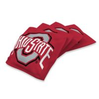 Ohio State University Duck Cloth Cornhole Bean Bags in Red (Set of 4)