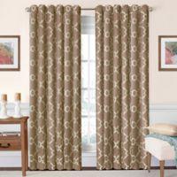 SolarShield® Oasis 63-Inch Rod Pocket/Back Tab Room-Darkening Window Curtain Panel in Taupe