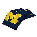 Michigan Wolverines Regulation Cornhole Bean Bags in Navy Blue (Set of 4)