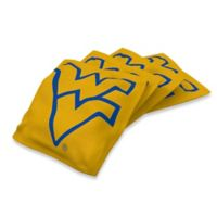 West Virginia University Regulation Cornhole Bean Bags in Yellow (Set of 4)