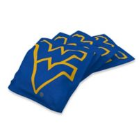 West Virginia University Regulation Cornhole Bean Bags in Navy Blue (Set of 4)