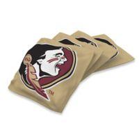 Florida State University 16 oz. Regulation Cornhole Bean Bags in Gold (Set of 4)