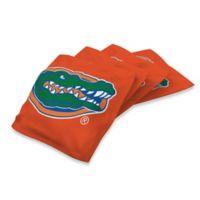 University of Florida 16 oz. Duck Cloth Cornhole Bean Bags in Orange (Set of 4)