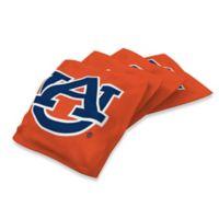Auburn University 16 oz. Duck Cloth Cornhole Bean Bags in Orange (Set of 4)