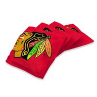 NHL Chicago Blackhawks 16 oz. Duck Cloth Cornhole Bean Bags in Red (Set of 4)