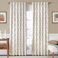 SolarShield® Oasis 63-Inch Rod Pocket/Back Tab Room-Darkening Window Curtain Panel in Ivory