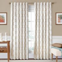 SolarShield® Oasis 108-Inch Rod Pocket/Back Tab Room-Darkening Window Curtain Panel in Ivory