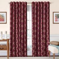 SolarShield® Oasis 63-Inch Rod Pocket/Back Tab Room-Darkening Window Curtain Panel in Burgundy