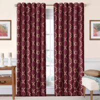 SolarShield® Oasis 108-Inch Rod Pocket/Back Tab Room-Darkening Window Curtain Panel in Burgundy