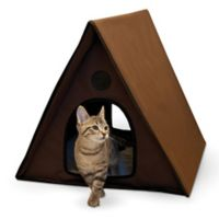 Outdoor Multi-Kitty A-Frame™ Large Pet House in Chocolate