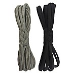 Sailor Knot 2-Piece Headband Set in Grey/Black
