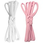 Tiny Treasures Sailor Knot Headbands in Pink/White (Set of 2)