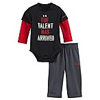 Under Armour® The Talent Has Arrived Size 3-6M Pant Set in Black