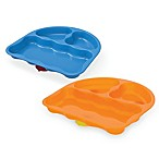 Nuk® Tri-Suction Sectional Plate Set in Blue/Orange (Set of 2)