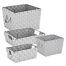 Woven Storage Tote In Light Grey Bed Bath Amp Beyond