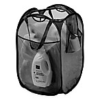 Pop-Up Mesh Laundry Hamper in Black
