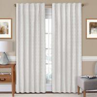 SolarShield® Holly 63-Inch Rod Pocket/Back Tab Room-Darkening Window Curtain Panel in White