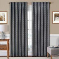 SolarShield® Holly 84-Inch Rod Pocket/Back Tab Room-Darkening Window Curtain Panel in Fog