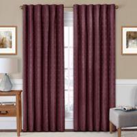 SolarShield® Holly 63-Inch Rod Pocket/Back Tab Room-Darkening Window Curtain Panel in Burgundy