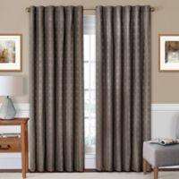 SolarShield® Holly 108-Inch Rod Pocket/Back Tab Room-Darkening Window Curtain Panel in Mushroom