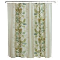 Bacova Waterfall Leaves Shower Curtain In Blue Green