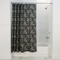 Floating Leaves Shower Curtain In Black