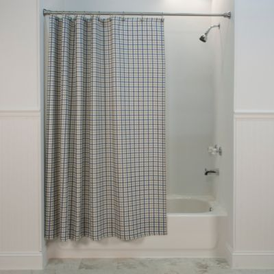Bristol Plaid Shower Curtain In Blue