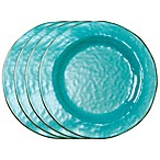 tag Veranda Dinner Plates in Ocean Blue (Set of 4)