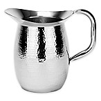 Old Dutch International 64 oz. Hammered Double-Wall Stainless Steel Water Pitcher