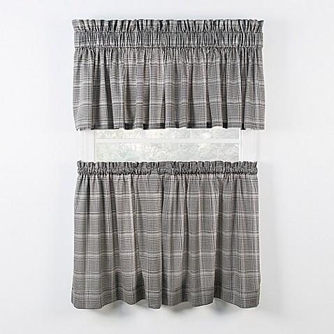 Morrison Kitchen Window Curtain Tiers And Valance Bed Bath Beyond