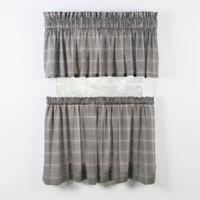 Morrison 24-Inch Kitchen Window Curtain Tier Pair in Black