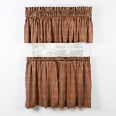 Morrison 24 Inch Kitchen Window Curtain Tier Pair In Rust