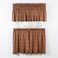 Morrison 24-Inch Kitchen Window Curtain Tier Pair in Rust