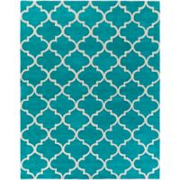 Artistic Weavers Holden Finley 7-Foot 6-Inch x 9-Foot 6-Inch Area Rug in Teal/Ivory